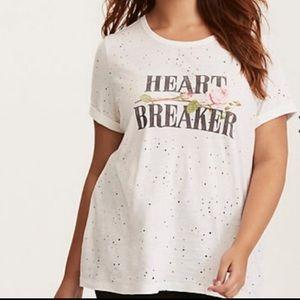 Torrid Heart Breaker t-shirt size 2xl